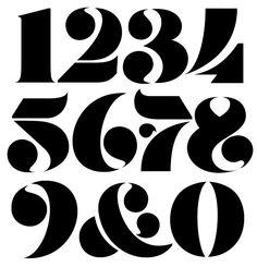 Bauhaus Typography, Retro Typography, Typography Alphabet, Typography Layout, Typography Poster, Graphic Design Typography, Number Typography, Number Fonts, Creative Typography