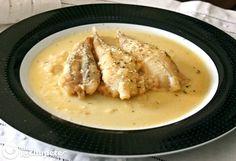 Una receta súper sencilla para que los más peque de casa coman pescado. Rape en salsa de almendras http://www.recetasderechupete.com/rape-en-salsa-de-almendras/12763/ #rape