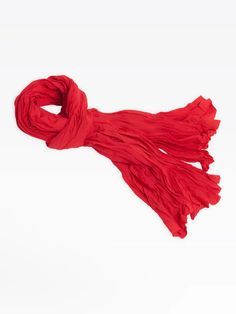 the red scarf Red Shawl, Simply Red, Red Scarves, Polyvore, Accessories, Women, Style, Fashion, Red