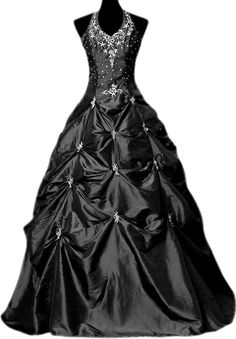 Gothic black wedding gown from battypottaty on #Etsy. Halloween wedding.