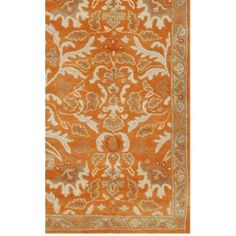Shop for Hand-tufted Sorcica Orange Wool Rug x Get free delivery On EVERYTHING* Overstock - Your Online Home Decor Store! Online Home Decor Stores, Wool Rug, Damask, Wool Blend, Floral Design, Area Rugs, Vibrant, Beige, Contemporary