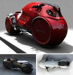 Conceptualized by Enzyme Design, the Icare motorcycle is meant to be the Aston Martin of the two-wheeled world with a six-cyclinder 1.8 Honda engine. It looks like a muscle motorcycle of the future, ready to rip up the road and outrace the cops in hot pursuit.