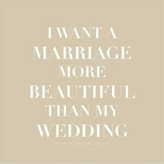 Of course we all want a marriage more beautiful than the wedding because it lasts a life time, but it doesn't mean that you can't have a wedding as beautiful as your marriage, right? Tag your loved ones right away and tell us what you think below!  Image via @marriage_quotes