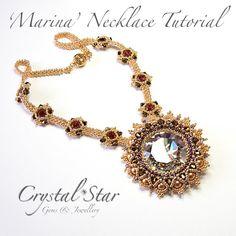 Tutorial collar Marina por Crystalstargems en Etsy