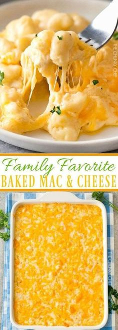 Family Favorite Baked Mac and Cheese   Rich and creamy baked mac and cheese, filled with multiple layers of shredded cheeses and smothered in a smooth cheese sauce for the ultimate macaroni and cheese!   http://thechunkychef.com