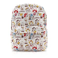c907b3475f Finex White Snoopy Canvas Backpack with Laptop storage compartment for School  College Daypack Causal Travel Bag