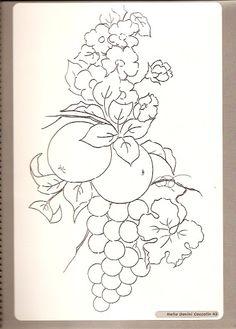 risco frutas pintura em tecido