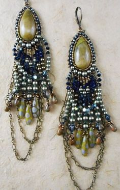 Bead Embroidered Earring ART