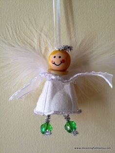 Angel Christmas Craft for Kids - Made from an Egg Carton