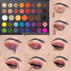 Makeup Eye Looks, Eye Makeup Steps, Eye Makeup Art, Smokey Eye Makeup, Purple Makeup, Colorful Eye Makeup, Makeup Morphe, Morphe Eyeshadow, Morphe Palette