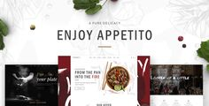 Appetito - A Modern Theme for Restaurants and Cafés . Appetito - A Modern Theme for Restaurants and Cafés
