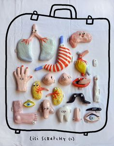 Lili Scratchy #anatomy #ceramic #miniature #sculpture / http://liliscratchy.blogspot.it