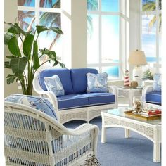 Chic Regatta Loveseat by Spice Islands Wicker Sofas Home Decor Furniture from top store Deck Furniture, Home Decor Furniture, Living Room Furniture, Outdoor Furniture Sets, Furniture Design, Furniture Ideas, Modern Furniture, Wicker Sofa, Rattan