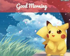 Good Morning Cartoon Images With Pikachu Cartoon Photo Good Morning Cartoon Images, Cute Cartoon Images, Cartoon Photo, Cute Cartoon Girl, Mouse Photos, Dog Photos, Garfield Images, Bunny Images, Happy Wishes