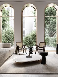 Home Decor Living Room Arched windows and modern timeless decor.Home Decor Living Room Arched windows and modern timeless decor Interior Exterior, Home Interior Design, Interior Architecture, Interior Decorating, Interior Lighting Design, Room Interior, Arch Interior, Design Homes, Decorating Bedrooms