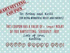 babysitting voucher template free