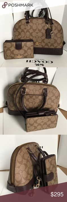 Coach Set 100% Authentic Coach Purse Crossbody and Wallet, both brand new!.color Oxblood/Brown. Coach Bags Crossbody Bags