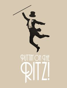 Puttin' On The Ritz! by Robbie Thiessen, via Behance. A good name for an event, since anything Gatsby will be way over used now.