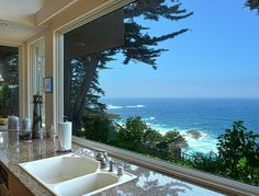 kitchen with ocean views | Beautiful ocean views from kitchen! :) | Our Dream Ocean Home