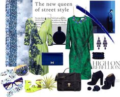 """""""491. Green & Blue"""" by cherieaustin ❤ liked on Polyvore"""