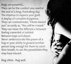 The power of hugs