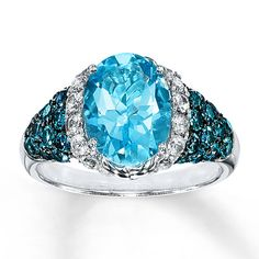 Topaz Ring Oval-cut Sterling Silver
