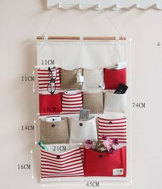 2902715387_161238109 Wall Hanging Storage, Hanging Organizer, Diy Hanging, Easy Diy Crafts, Diy Craft Projects, Sewing Projects, Wall Pockets, Hobbies And Crafts, Home Organization