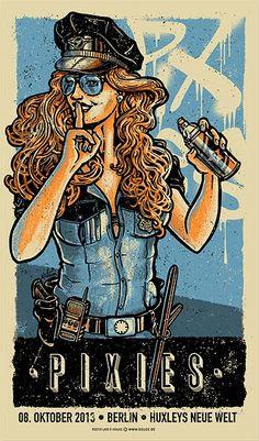 Pixies-berlin-Lars-Krause-poster-blue