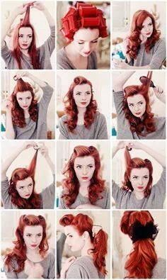 Love this Vintage Go-to Hairstyle!
