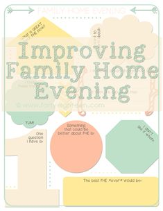 Family Home Evening Fix-Up - free printable to help you improve your weekly family home evenings