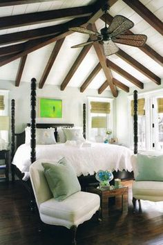 {Love this look!} Exposed Wood Ceiling Beams - The Inspired Room