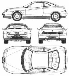 1968 Alfa Romeo Type 33 Cabriolet blueprint