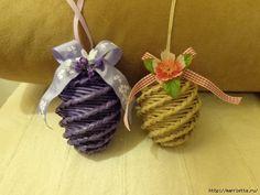 MK. IDEAS - Easter eggs from newspaper tubules. - Пасхальные яйца из газетных трубочек. Идеи и мастер-класс (8) (640x480, 199Kb)