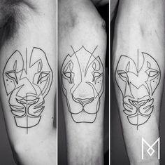 Mo Ganji lion tattoo