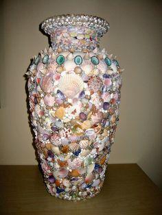 Seashell Projects | Seashell Vase | Sea Shell Projects
