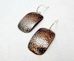 Chickweed pattern handmade copper earrings by Amayeli on Etsy, $18.00