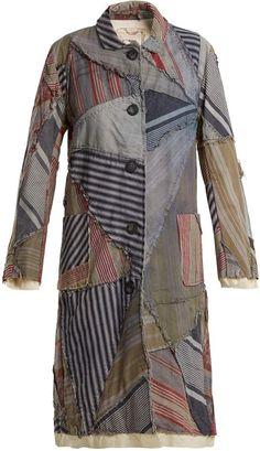 BY WALID Lori 19th-century print linen coat