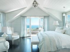 Surfside Chic Nantucket - beach style - bedroom - boston - by Donna Elle Seaside Living Beach House Bedroom, Bedroom Retreat, Home Bedroom, Seaside Bedroom, Bedroom Ideas, Dream Bedroom, Bedroom Inspiration, Bedroom Decor, Beach Room