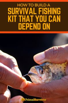 Find out the flaws in most DIY survival fishing kits and what gear you actually need to make an emergency fishing kit that will help you quickly catch the fish in your location. Survival Fishing Kit, Survival Food, Wilderness Survival, Outdoor Survival, Survival Knife, Survival Prepping, Emergency Preparedness, Survival Skills, Survival Hacks