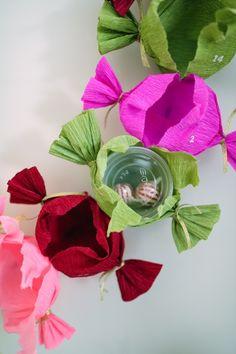 Bonbon Advent Wreath DIY   Oh Happy Day!