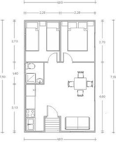 Get the plans to build your own small home or shed! The Plan, How To Plan, Tiny House Cabin, Small House Plans, Container Home Designs, 500 Sq Ft House, Espace Design, 2 Bedroom House Plans, Shipping Container House Plans