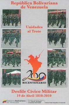 Postal: Unidades al Trote 4/6 (Venezuela) (Ipostel - Military Civic Parade April 19, 1810 - 2010) Col:ve_ipostel_DCM_04