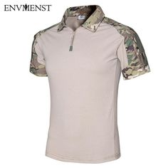9dca4de2f7b 2017 Summer Tactical Camouflage Men Army Combat POLO Shirt. Tactical ShirtTactical  GearTactical ClothingCamouflage T ShirtsMilitary ...