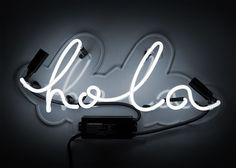 Light up your wall décor with the Oliver Gal Hola Neon Sign . This playful sign is made from handcrafted glass tubing mounted to a contour-cut. Oliver Gal Art, Neon Licht, Neon Words, Modern Wall Decor, Neon Lighting, Lighting Design, Light Up, Illustration, Art Pieces
