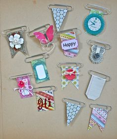 Decorative Clips! All you need are paperclips, scraps, and staples! Make your own custom embellishments!!!  Find details at: http://blog.vintagestreetmarket.com/