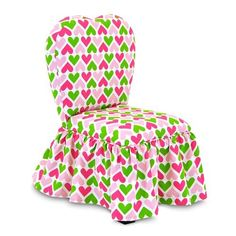 Kidz World Furniture Sweetheart Chair - Heart Chartreuse_Candy Pink - KWF-1200-1-HCCP. Kidz World Furniture Sweetheart Chair - Heart Chartreuse_Candy Pink - KWF-1200-1-HCCP This adoranble Sweetheart chair features a mixed hardwood frame with four wooden legs that are covered in black upholstery fabric. The hear.. . See More Chairs at http://www.ourgreatshop.com/Chairs-C997.aspx