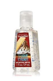 I Love Smores Bath And Body Works Hand Sanitizer. This is my favorite hand sanitizer!! It smells soooooo good!!