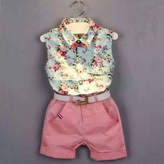 brand girls clothing Picture - More Detailed Picture about Girls Clothes Summer 2017 Brand Kids clothes Girls Clothing Sets casual Sleeveless Print bow shirt+Shorts Suit Children Clothing Picture in Clothing Sets from HE Hello Enjoy xuan Store Little Girl Fashion, Toddler Fashion, Kids Fashion, Short Outfits, Toddler Outfits, Kids Outfits, Preppy Toddler Girl, Toddler Girls Clothes, Baby Outfits