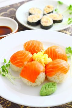 Sushi Flowers-This reminds me of my bff Lilly who loves salmon sushi!!!