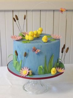 Duck Pond Cake...  I love this cake, then again i love rubber duckies